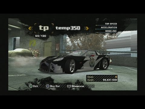 Need for Speed Most Wanted PS2 hacked save (police, traffic and bonus cars) - HD 1080p