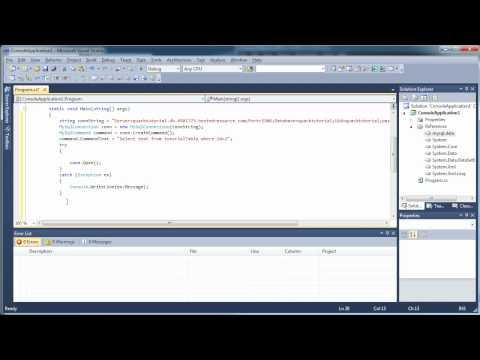 Connect to MySQL Database - Use Select, Insert, Update - C# C Sharp Visual Studio 2010