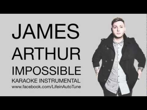 James Arthur Impossible (минус -)