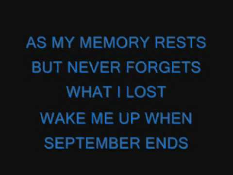 Green Day Wake Me Up When September End